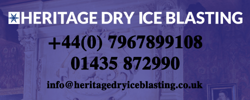 Heritage Dry Ice Blasting, 4 Britric Close, Little Dunmow, Essex, CM6 3FN, Tel: 01371 821601 / +44(0) 7967 899108