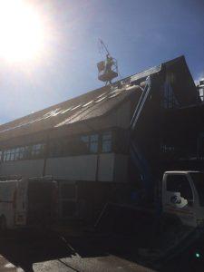 Jet wash roof